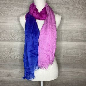Pink to Blue Blend Scarf
